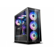 "Carcasa DeepCool Middle-Tower E-ATX,3x 120mm CF120 fans, header RGB ADD, RGB LED strip, tempered glass, front audio & 2x USB 3.0, 2x USB 2.0, black ""MATREXX 70 ADD-RGB 3F"""