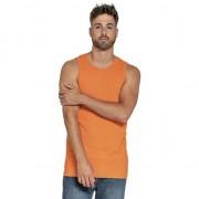 Gildan Oranje heren tanktop/singlet basic hemden