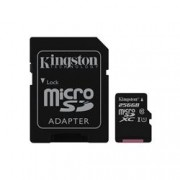 KINGSTON 256GB CANVAS MICRO SDHC 80R CL10 UHS-I + SD ADAP.