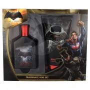 DC Comics Batman v Superman sada toaletní voda 75 ml + sprchový gel 150 ml pro děti
