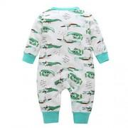 Freshzone Newborn Girl Boy Crocodile Letter Cartoon Romper Jumpsuit Infant Baby Suitset Outfit Clothes (6-9 Months)