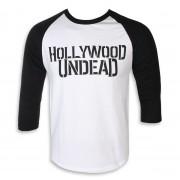 tričko pánské 3/4 rukávem HOLLYWOOD UNDEAD - LOGO - PLASTIC HEAD - PH10782LSB
