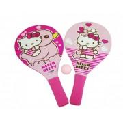 Set 2 palete pentru plaja Saica Hello Kitty din lemn cu minge inclusa pentru copii