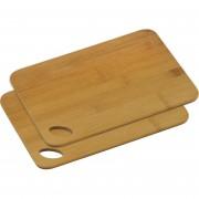 Merkloos 2x Bamboe houten snijplanken 21 x 30 cm