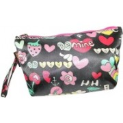 Everyday Desire Multipurpose Cosmetic Makeup Pouch For Women - Love Hearts Travel Toiletry Kit(Multicolor)