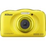 Nikon W-100 Digitale camera 13.2 Mpix Zoom optisch: 3 x Geel Full-HD video-opname, Onderwatercamera, Schokbestendig, WiFi