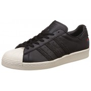 adidas Originals Men's Superstar 80S Cny Cblack and Cwhite Leather Sneakers - 10 UK/India (44.67 EU)