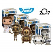Premium Set 4 Piezas Bella Y Bestia Funko Pop Lumiere Mrs Potts Chip Cogsworth Pelicula ENVIO GRATIS