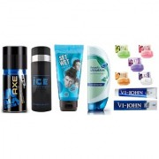 AXE DEO + ICE DEO + SET WET Hair Gel + Head Shoulder Conditioner + 5 JO Soaps + Shaving Cream