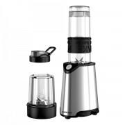 Blender Albatros Energy Mix, 600 W, 1 viteză (Pulse), Vas mixare 0.57 L, Lame inox, Râşniţă, Capac siguranţă, Negru/Inox