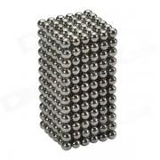 Los juguetes educativos de las bolas del iman de 3m m DIY fijaron - negro de plata (432 PCS)