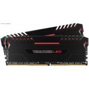 Corsair VenGeance 16Gb(8Gbx2) DDR4-3200 (PC4-25600) CL16 1.35v Desktop Memory Module with (Red led) black heatsink