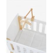 VERTBAUDET Mobile em madeira, para cama de boneca branco vivo liso