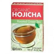 Eden té verde tostado, Hojicha, bolsas de té, cajas de 16 unidades (Paquete de 12)