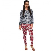 Anoma Polyester Fabric Floral Print Maroon Colour M-L-XL-2XL-3XL & Free Size Leggings (Fits in All Sizes) Leggings For Women's & Girls