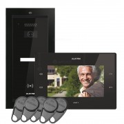 Kit videointerfon Electra Touch Line Smart+ VKM.P1FR.T7S4.ELB04, 1 familie, ingropat, 7 inch