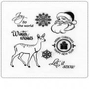 Tampon transparent Santa Claus 8 cm