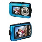 Camara digital polaroid if045 azul 14mp doble pantalla 2.7/1.8 sumergible 3mts