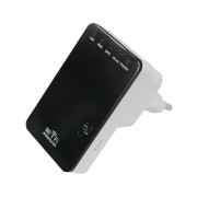 300Mbps Wireless-N Mini Router Wifi Extensor Repetidor Amplificador Blanco&Negro