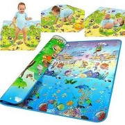 100 Waterproof Double Side Baby Play Crawl Mat (Color Design May Vary)(6ft X 4 ft)
