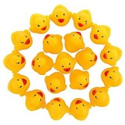 BabyPrice Baby Toy Lovely Hot Safety Duck Bath Toy Organizer Ideal Baby Gift for Babies Rubber Ducks(18pcs)