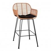 Ратанов бар стол с подлакътници Мебели Богдан модел Alegra