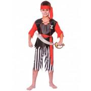 Vegaoo Piraten Jungenkostüm schwarz-weiss-rot