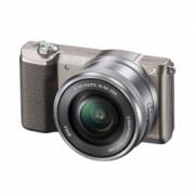 Sony Alpha A5100(ILCE-5100L/T) maro + SEL16-50mm - aparat foto mirrorless cu WiFi si NFC