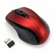 Egér, vezeték nélküli, optikai, közepes méret, USB, KENSINGTON Pro Fit, piros (BME72422)