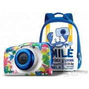 Aparat foto Nikon Coolpix W100, marine + rucsac