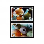 Set tablouri COLORFUL BOTTLES I&II