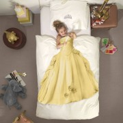 Snurk Prinses dekbedovertrek geel-2-persoons 200 x 220 cm incl. 2 kussenslopen 60 x 70 cm