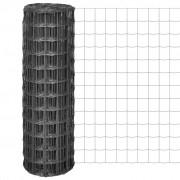 vidaXL Euro gard cu plasă din oțel de 100 x 100 mm, 10 x 1,2 m, gri