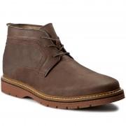 Обувки CLARKS - Newkirk Top 261105727 Dark Brown Nubuck