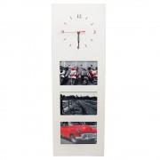 Ceas de perete, cu design modern, si 3 rame foto