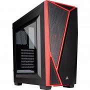 Carcasa Carbide SPEC-04, MiddleTower, Fara sursa, Negru/Rosu