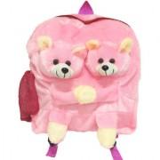 Ultra Twins Teddy School Bag 14 Inches - Pink