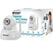 KGUARD Security QRT-303 Mega Pixel Wi-Fi Baby Monitoring Surveillance Security Camera Pan Tilt (White)