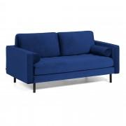 Kave Home Sofá Debra 2 plazas terciopelo azul 180 cm