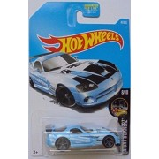 Hot Wheels 2017 Night Burnerz Dodge Viper SRT10 ACR 47/365, Light Blue