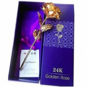 Beautiful 24K Golden Rose With Gift Box And a Nice Carry Bag - Best Gift to Express love on Valentine's Day