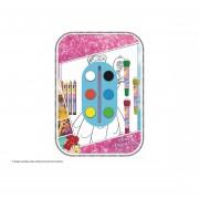 Disney set per colorare e disegnare con colori e timbri principesse pr0183 934