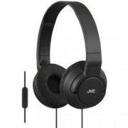 Casti audio cu banda JVC HA-SR185-B tip DJ Ultrausoare Control Telefon Negru