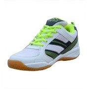Footfix Spectrum Unisex (Non Marking) PU Badminton Shoes White