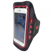 Tunturi Led Telephone Sport Armband Red