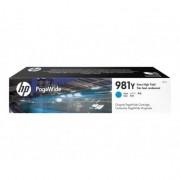 HP 981Y cartouche d'encre Cyan a rendement extremement élevé pour PageWide
