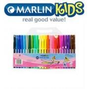 Marlin Kids Fibre Tip Koki Pens 24's, Retail