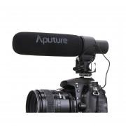 Aputure V -MIC D2 Sensibilidad Ajustable Direccional De Condensador De Micrófono De Cañón (Negro)