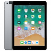 """Apple iPad 9.7"""" (2018) 32GB Wifi with Rounded Edges Tempered Glass Screen Protector - Space Gray (with 1 year official Apple Warranty)"""