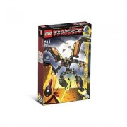 Lego Year 2007 Exo-Force Series Mecha Vehicle Figure Set # 8105 - IRON CONDOR with Mechanical Wings Talons Firing Missile Plus Devastator the Robot Pilot Minifigure and Special Web Code (Total Pieces: 141)